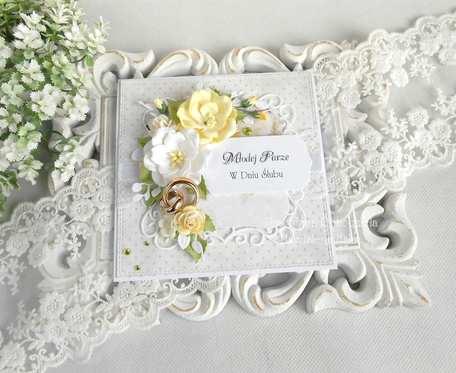 Ślubna kartka w pudełku 68